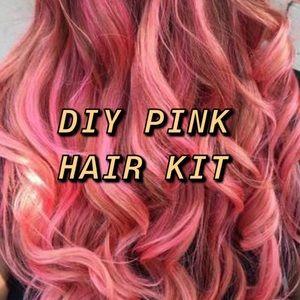 DIY Pink Hair Dyeing and Maintenance Kit